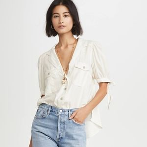 Free People Safari Babe Top Sz L